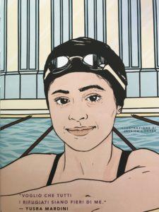 Yusra Mardini.Nuotatrice