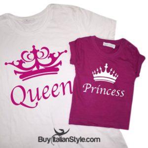 Festa della Mamma.Maglia Queen & Princess